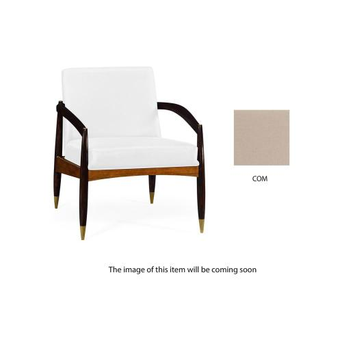 Contemporary occasional chair upholstered in COM