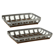 See Details - Rectangle Galvanized Tray Basket (2 pc. set)