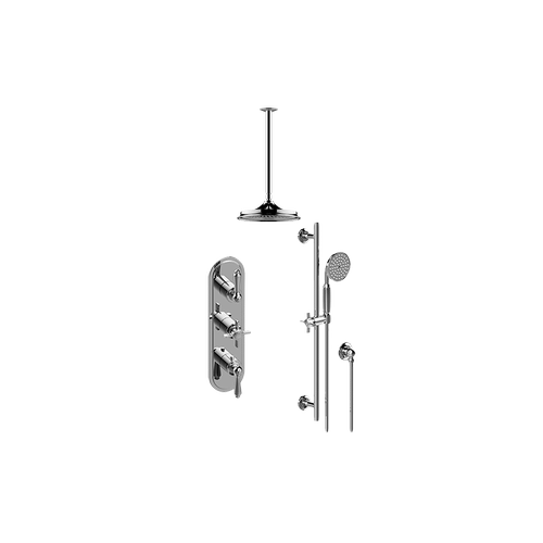 Camden M-Series Thermostatic Shower System - Shower with Handshower