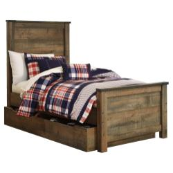Trinell Twin Panel Bed With 1 Large Storage Drawer