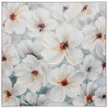 See Details - Healthy Bloom  30in X 30in X 2in  Textured Hand Embellished Canvas Stretched & Framed