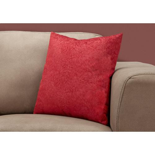 """Gallery - PILLOW - 18""""X 18"""" / RED FEATHERED VELVET / 1PC"""