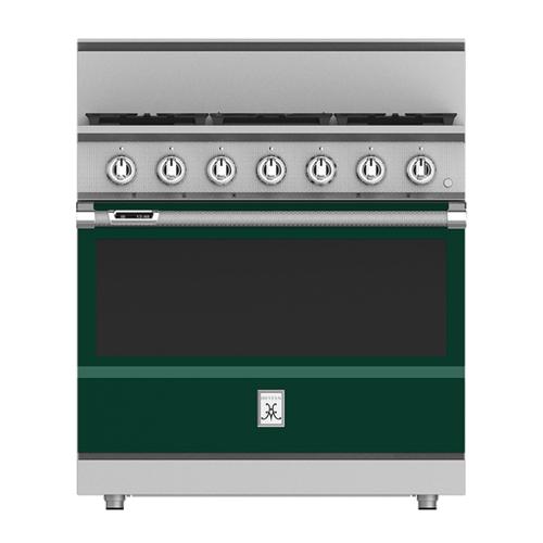 """Hestan - 36"""" 5-Burner Dual Fuel Range - KRD Series - Grove"""