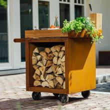 See Details - Mise en Place Table Corten 65 PRO Teak Wood