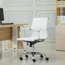 Panoton Chromel Contemporary Low Back Office Chair, White