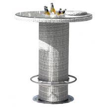 "Santorini 40"" Round Pub Table w/tempered glass & ice bucket"
