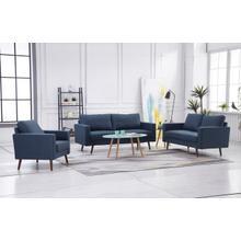 See Details - 8125 3PC NAVY Linen Stationary Basic Living Room SET
