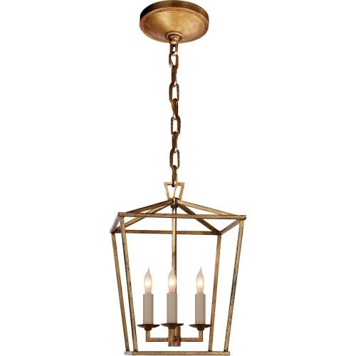Visual Comfort CHC2175GI E. F. Chapman Darlana 3 Light 10 inch Gilded Iron Foyer Pendant Ceiling Light