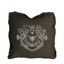 View Product - Logo Pillow Brown Linen