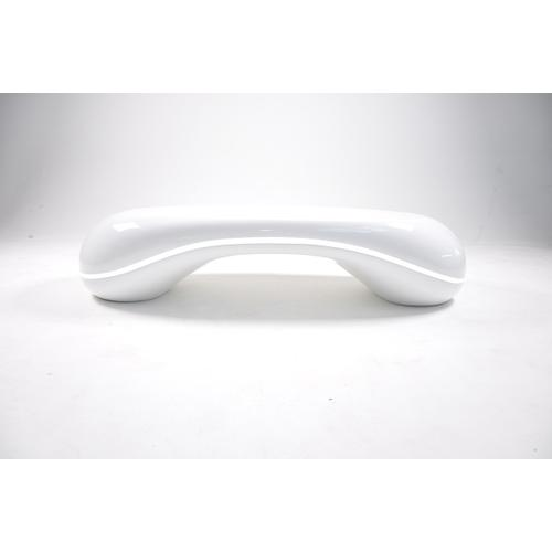 Modrest Pebble - Contemporary LED White High Gloss Coffee Table