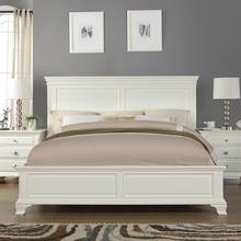 Laveno 012 White Wood QUEEN& KING Bed, Queen
