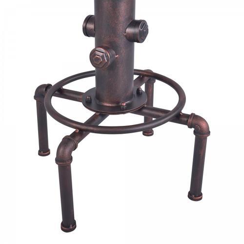 Armen Living Remy Industrial Adjustable Barstool