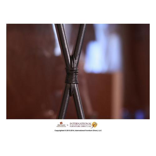 Artisan Home Furniture - Corner w/2 Glass doors, 2 wood doors - Black Finish