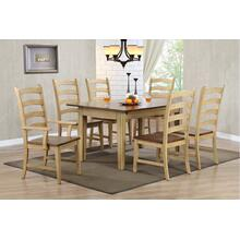 DLU-BR134-PW7PC  7 Piece Rectangular Extendable Dining Set