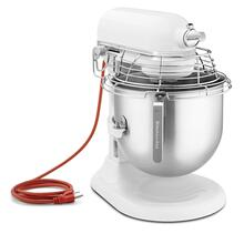 NSF Certified® Commercial Series 8 Quart Bowl-Lift Stand Mixer with Stainless Steel Bowl Guard - White