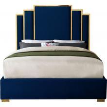 """Hugo Velvet Bed - 81.5"""" W x 86.5"""" D x 63"""" H"""