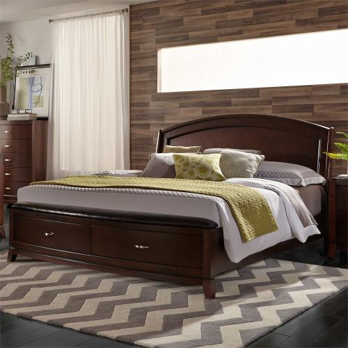 King California Panel Storage Bed