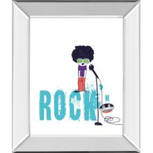 """Rock And Roll"" By Laure Girardin Vissian Mirror Framed Print Wall Art"