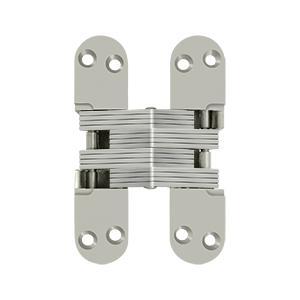 "4 5/8"" x 1 1/8"", Concealed Hinge - Brushed Nickel Product Image"