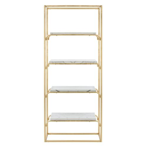 Fiora 4 Tier Etagere - Gold / White