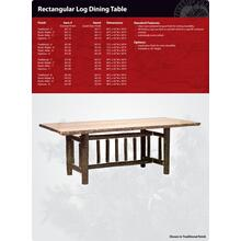 Rectangular Hickory Dining Table