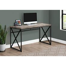 "COMPUTER DESK - 48""L / TAUPE RECLAIMED WOOD / BLACK METAL"