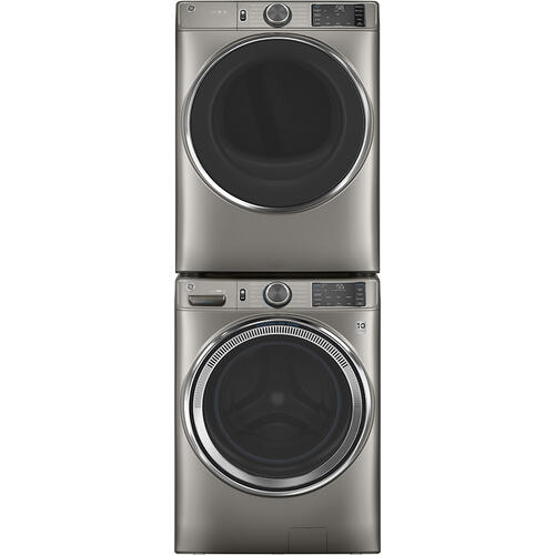 GE® 7.8 cu. ft. Capacity Dryer with Built-In Wifi Satin Nickel - GFD65ESMNSN