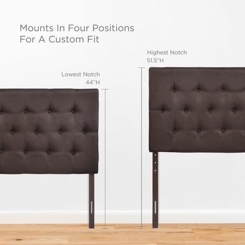 Modway - Clique Queen Upholstered Fabric Headboard in Dark Brown