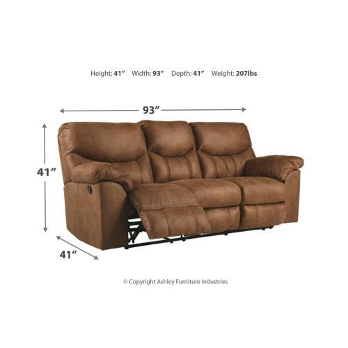 Boxberg Reclining Sofa & Console Loveseat Bark