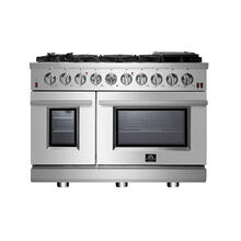 "48"" Gas Range FORNO ALTA QUALITA Pro-Style Gas 8 DEFENDI Italian Burners 107,000 BTU All 304 Stainless Steel FFSGS6239-48"