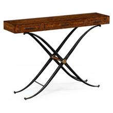 Hammered iron console (36''H)