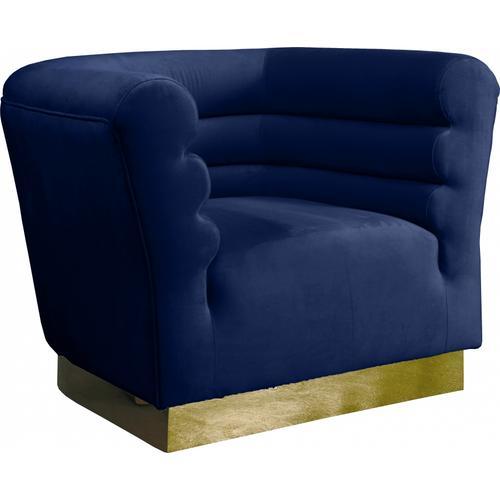 "Bellini Velvet Chair - 44"" W x 35"" D x 32"" H"