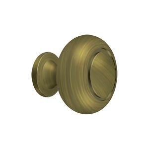 Deltana - Knob Round w/ Groove - Antique Brass