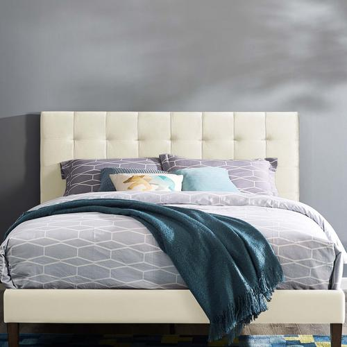 Modway - Paisley Tufted King and California King Upholstered Performance Velvet Headboard in Ivory