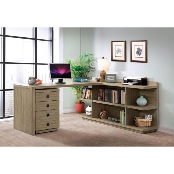 See Details - Perspectives - Mobile File Cabinet - Sun-drenched Acacia Finish