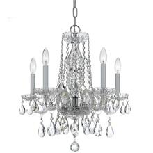 See Details - Traditional Crystal 5 Light Spectra Crystal Chrome Mini Chandelier