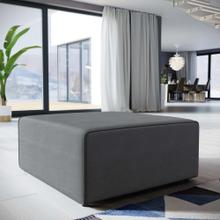 See Details - Mingle Fabric Ottoman in Gray