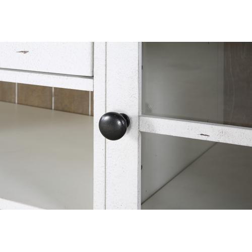 Centerville Glass Door Buffet, Acorn Gray & Antique White D727-50-09a