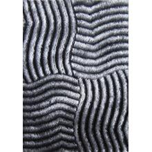 See Details - Soft Three Dimensional Polyester Viscose Hand Tufted 3D 311 Shag Area Rug by Rug Factory Plus - 2' x 3' / Gray