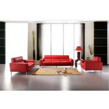 Divani Casa 216 Red Leather Sofa Set