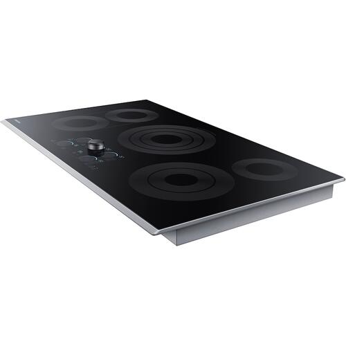 "36"" Electric Cooktop with Sync Elements in Stainless Steel"