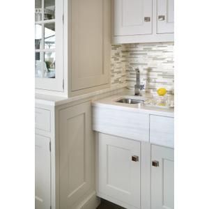 90 Degree chrome one-handle bar faucet