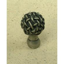 Chamberlain Knob Small in Pewter Matte