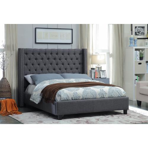 """Ashton Linen Bed - 72"""" W x 86"""" D x 56"""" H"""