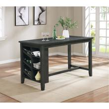 7896 Wire Brushed Counter Height Table
