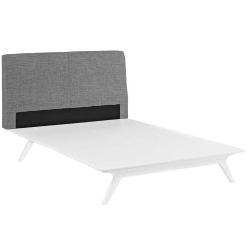 Modway - Tracy Queen Bed in White Gray