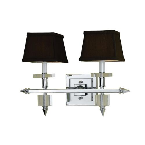 Hanover Outdoor Furniture - AF Lighting 6764 2-Light Vanity Sconce- Chocolate Shades, 6764-2W