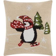 "Home for the Holiday Yx027 Multicolor 18"" X 18"" Throw Pillow"