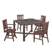 Stone Harbor 5 Piece Dining Set With 2 Swivel and 2 Stationary Chairs