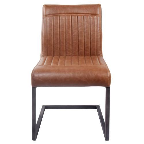 Ronan KD PU Dining Side Chair, Antique Cigar Brown